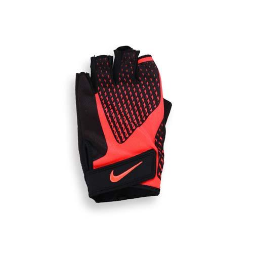 (男) NIKE 用CORE LOCK健力手套2.0-重高雄 愛 買 營業 時間訓 重量訓練 健身 橙黑 XL