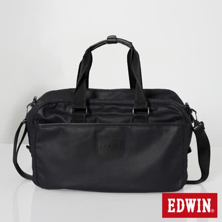 EDWIN 配件 丹寧旅行袋-黑色
