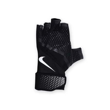 (男) NIKE 用加重訓練手套-重量訓練 健身 半指手套 黑白 L