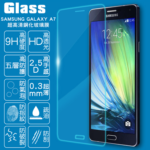 ~GLASS~9H鋼化玻璃保護貼^( SAMSUNG GALAXY A7^)