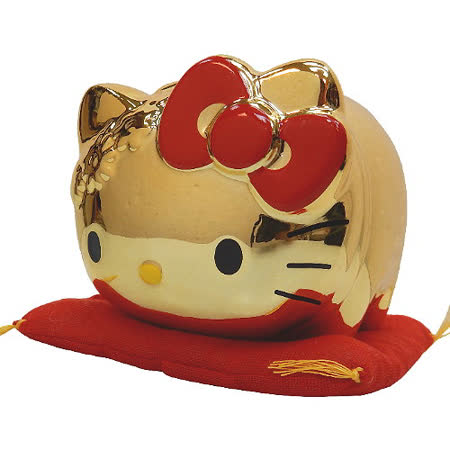【波克貓哈日網】Hello kitty 凱蒂貓◇招財納福存錢筒◇《金色kitty》
