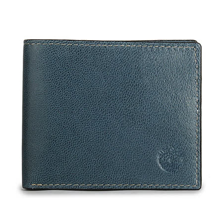 Timberland 細紋皮革證件短夾-藍綠色