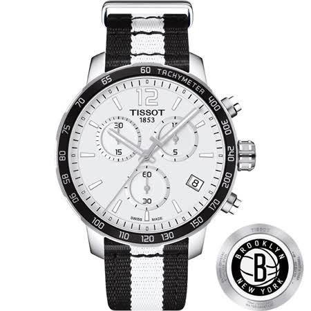 TISSOT 天梭 X NBA 籃網隊計時特別版腕錶-42mm T0954171703711