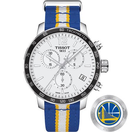TISSOT 天梭 X NBA 勇士隊計時特別版腕錶-42mm T0954171703715