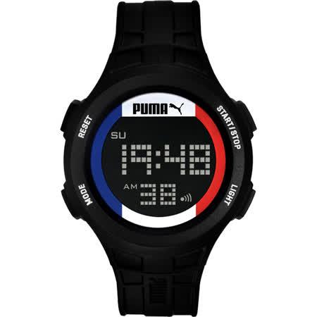 PUMA 復刻奧運法國時尚運動腕錶-PU911301006