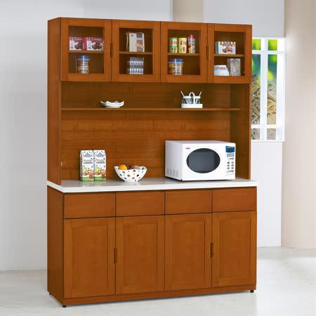 HAPPYHOME 泰豐樟木色5.3尺石面餐櫃UZ6-324-1