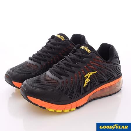 【GOODYEAR】專業緩震KPU氣墊運動鞋男-黑桔(MR63303-25.5~29cm)