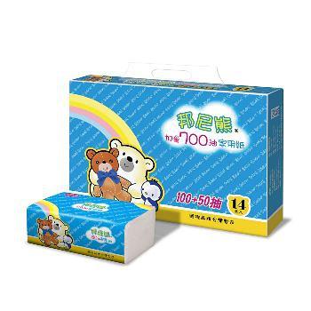 【Benibear邦尼熊】抽取式花紋家用紙150抽x84包/箱x4