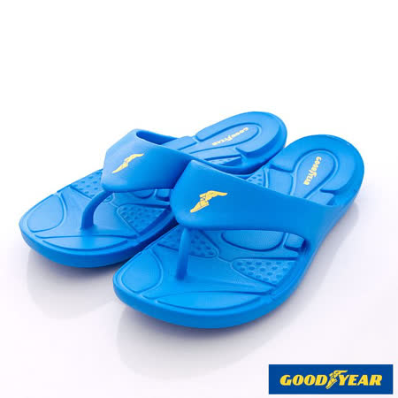 GOODYEAR戶外鞋-輕MIT-Q彈舒壓排水夾腳涼鞋(MS63686藍-男段-25-29cm)