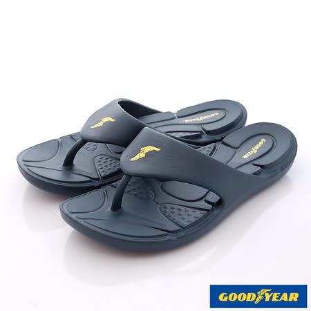 GOODYEAR戶外鞋-輕MIT-Q彈舒壓排水夾腳涼鞋(MS63687藏青-男段-25-29cm)