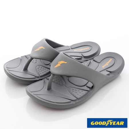 GOODYEAR戶外鞋-輕MIT-Q彈舒壓排水夾腳涼鞋(MS63688灰-男段-25-29cm)