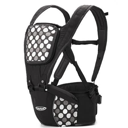 (黑灰圓點)歐美多功能護腰腰凳 便攜式四季背帶 全棉 嬰兒揹帶 減壓 背巾【LA0001】