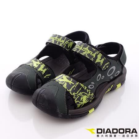 DIADORA義大利國寶鞋】護趾休閒涼鞋(MS3165綠-男段-24-28cm)