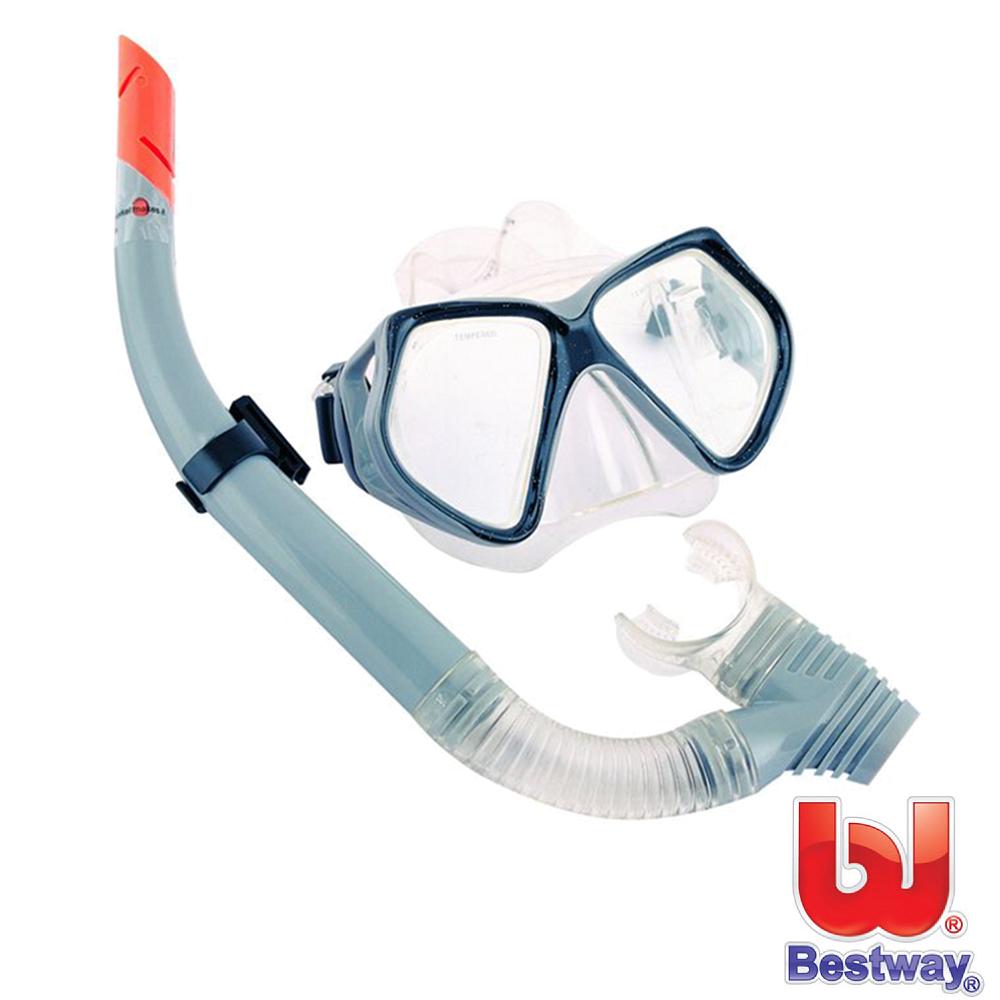 【B大 遠 百 電話ESTWAY】鋼化玻璃潛水鏡組合 (灰色)