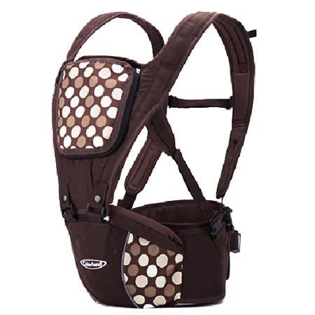 (咖啡圓點)歐美多功能護腰腰凳 便攜式四季背帶 全棉 嬰兒揹帶 減壓 背巾【LA0001】
