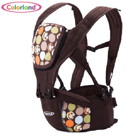 (咖啡猴)歐美colorland多功能護腰腰凳 便攜式四季背帶 全棉 嬰兒揹帶 減壓 背巾【LA0001】