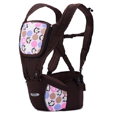 (粉紅猴)歐美多功能護腰腰凳 便攜式四季背帶 全棉 嬰兒揹帶 減壓 背巾【LA0001】