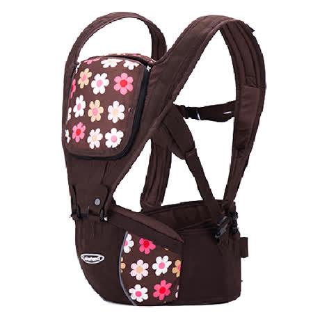 (法國小花)歐美多功能護腰腰凳 便攜式四季背帶 全棉 嬰兒揹帶 減壓 背巾【LA0001】