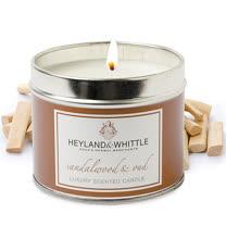 H&W英倫薇朵 玫香檀木香氛燭罐 180g