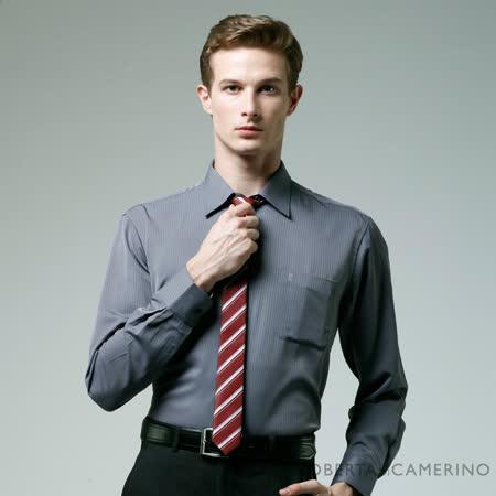 ROBERTA諾貝達 台灣製 嚴選穿搭 防皺舒適長袖襯衫 深灰