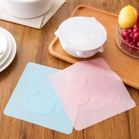 【PS Mall】 食品級矽膠保鮮膜蓋保鮮碗透明密封蓋子_2個 (J664)