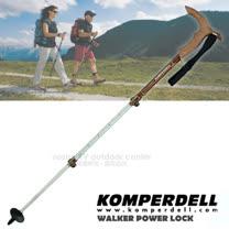 【KOMPERDELL 奧地利】WALKER POWER LOCK 鋁合金T型把強力鎖定登山杖-無避震 單支銷售 1762402-10