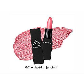 【即期品】韓國 3CE超顯色唇膏3.5g -706(0002016072041)