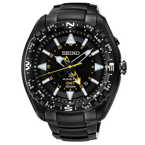 SEIKO PROSPEX 黑色艦艇人動電能男用腕錶~黑46mm 5M85~0AE0SD^