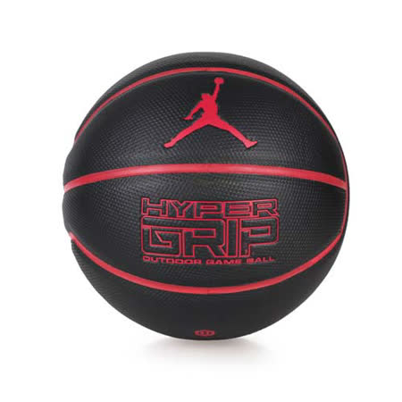 NIKE JORDAN HYPER GRIP 戶外籃球- 七號籃球 黑紅 F