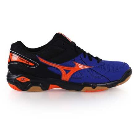 (男女) MIZUNO WAVE TWISTER 4 排球鞋- 羽球鞋 美津濃 藍螢光橘