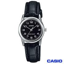 CASIO卡西歐 時尚休閒女仕皮帶腕錶 LTP-V001L-1B