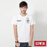 EDWIN 標語徽章短袖T恤-男-白色