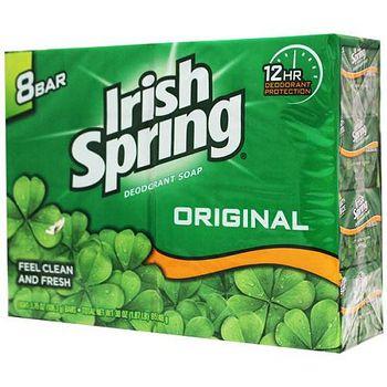 美國 Irish Spring 運動香皂 106.3g/3.75oz(8入組)