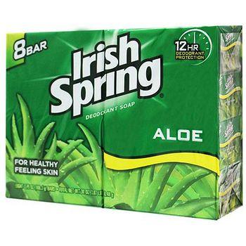 美國 Irish Spring 蘆薈香皂 106.3g/3.75oz(8入組)