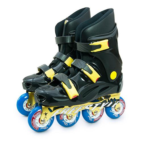【D.L.D多輪多】鋁合金底座 專業競新竹 市 愛 買速直排輪 溜冰鞋 黑黑 FS-1
