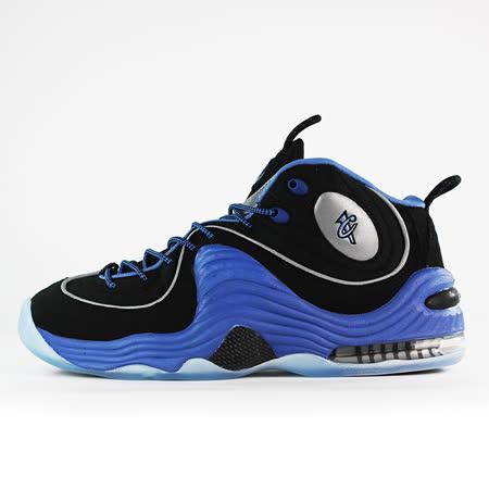 nike 男 AIR PENNY II  籃球鞋 黑/藍 - 333886005