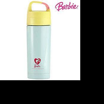 芭比Barbie 甜蜜羽絨保溫瓶 350ml- 淺藍