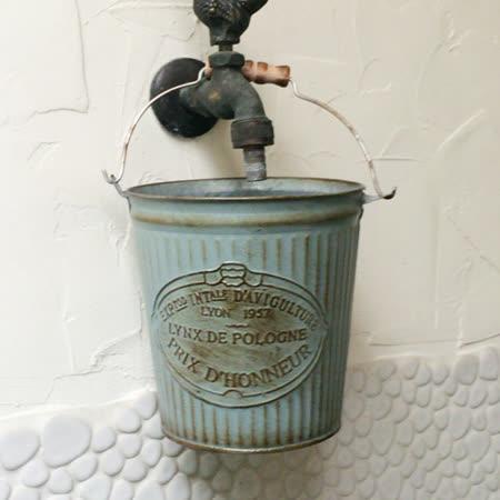 【Meric Garden】歐式仿舊復古雜貨風鐵藝裝飾花器 (牛奶桶)