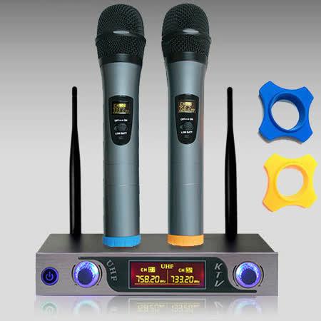 UHF全新1對2鋁合金高感度無線麥克風組