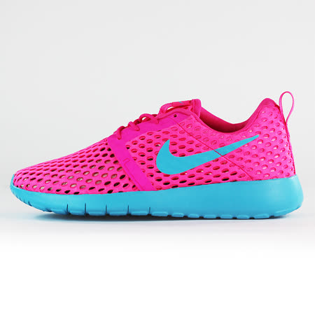 nike 女 ROSHE ONE FLIGHT WEIGHT BR GG  慢跑鞋 粉紅 - 705486602