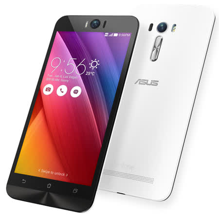 ASUS 華碩 ZenFone 2 Laser ZE550KL LTE 2G/16G 5廣三.5吋智慧手機 -贈專用馬卡龍皮套+9H鋼化玻璃保貼+手機/平板支架+奈米噴劑