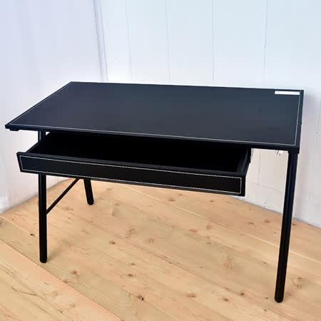 【凱堡】馬鞍大抽屜工作桌電腦桌書桌 120公分 (充電插座)