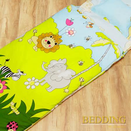 【BEDDING】森林王國 100%精梳棉舖棉冬夏兩用兒童睡袋