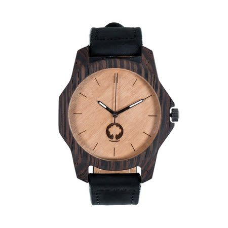 Plantwear 歐洲手工製實木手錶-Sierra series-象牙白-黑檀木(48mm)