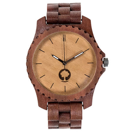 Plantwear 歐洲手工製實木手錶-Urban series-象牙白-紅檀木(47mm)