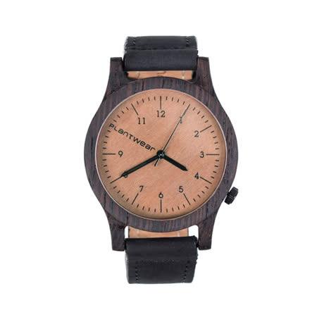 Plantwear 歐洲手工製實木手錶-Heritage series-咖啡棕-黑檀木(42mm)