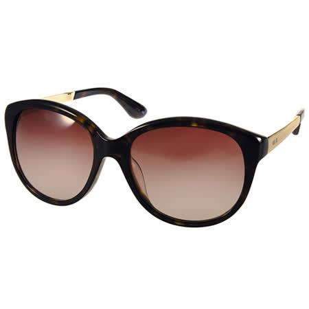 Anna Sui 太陽眼鏡 知性簡約微貓眼款 (琥珀-金) #AS1004 C127