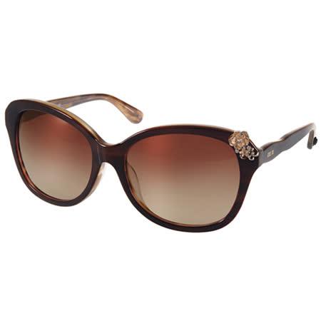 Anna Sui 太陽眼鏡 復古薔薇女伶經典款 (棕-流線棕) #AS1051-1 C140