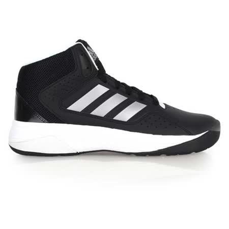 (男) ADIDAS CLOUDFOAM ILATION MID 籃球鞋- 高筒 黑銀