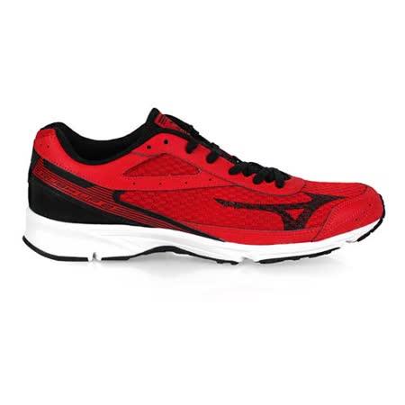 (男) MIZUNO RUSH UP 2 路跑鞋- 慢跑 健身 美津濃 紅黑
